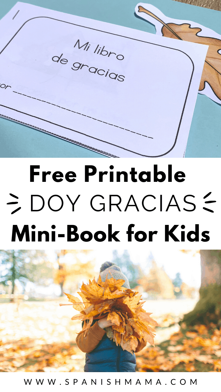 Spanish Thanksgiving Mini Book Free