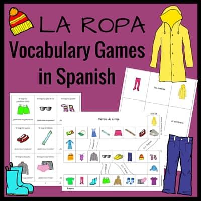 Clothing Vocabulary Games