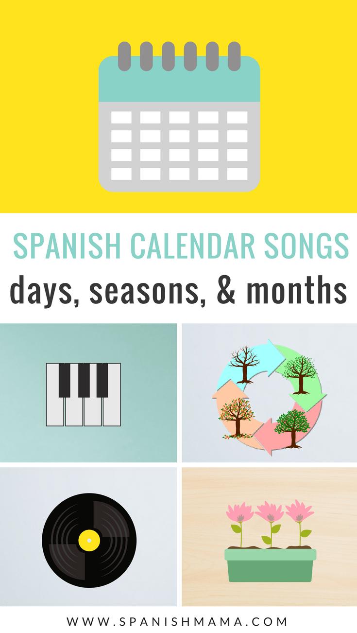 Spanish calendar songs