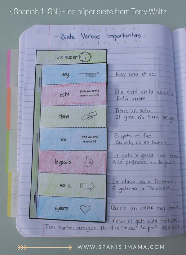 spanish_interactive_notebooks_super_seven_verbs