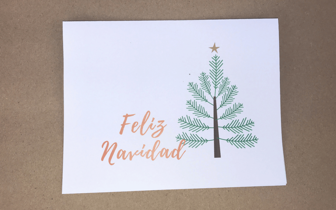 Free Printable Christmas and Holiday Cards in Spanish
