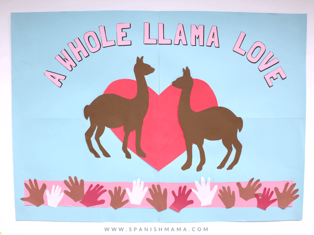 a whole llama love bulletin board