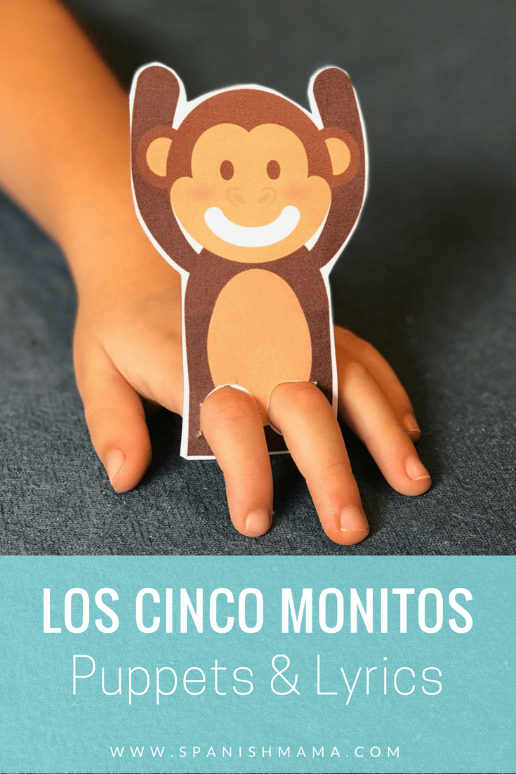 cinco monitos letras y titeres