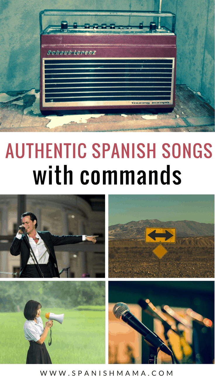 Spanish song with commands
