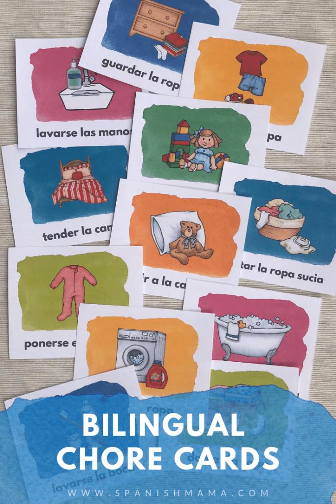 Spanish chore cards