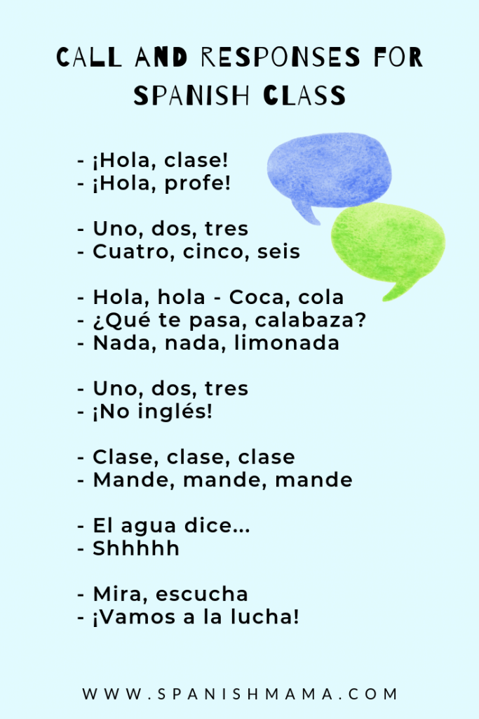 spanish call and responses