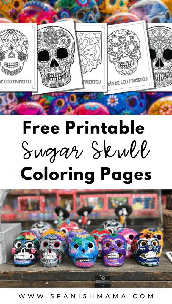 - Sugar Skull Coloring Pages And Masks For Día De Muertos