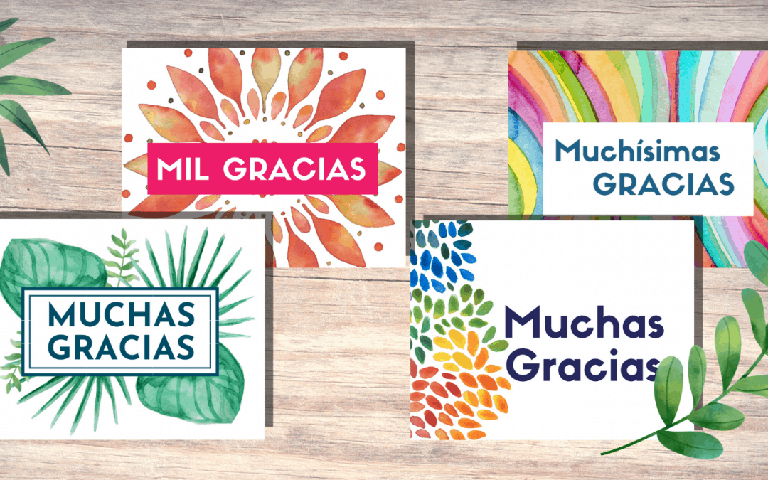 Free Printable Thank You Cards in Spanish