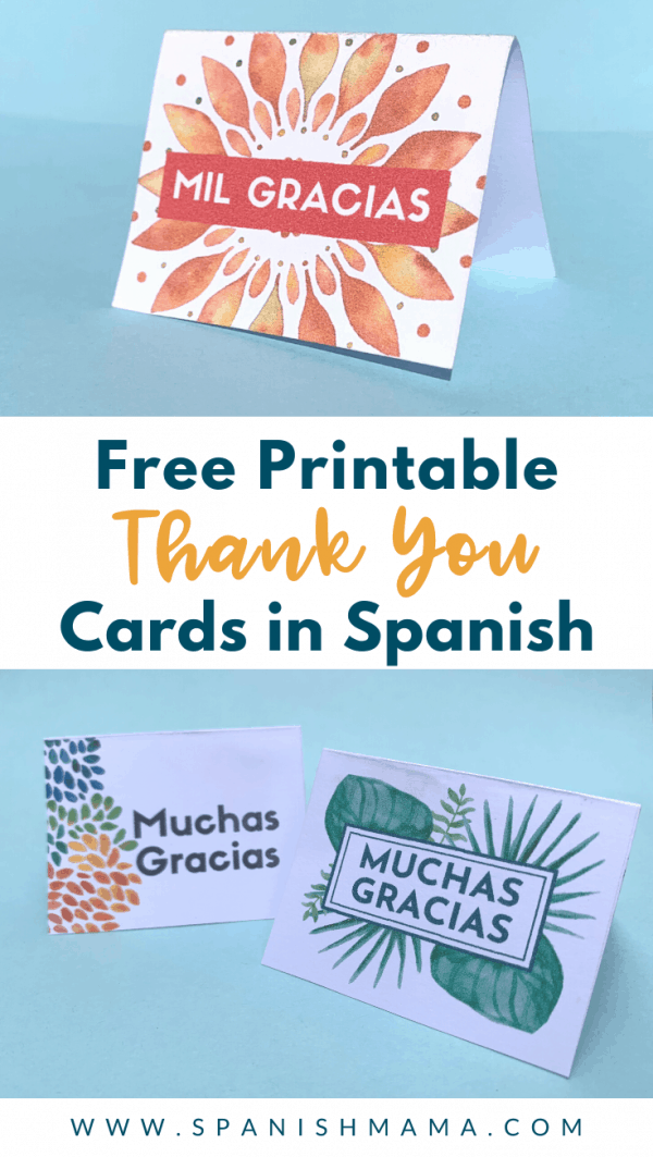 free printable thank you cards in spanish  spanish mama