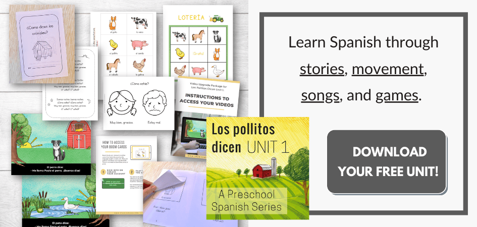 FREE PreK - Early Elementary Spanish Unit