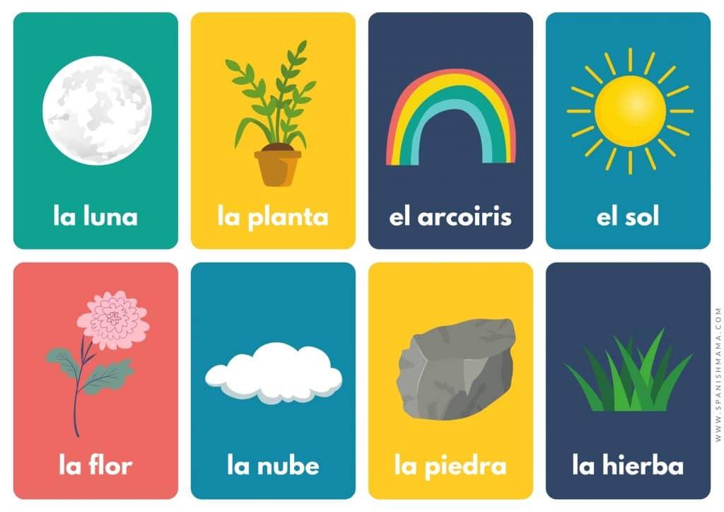 Spanish nature words