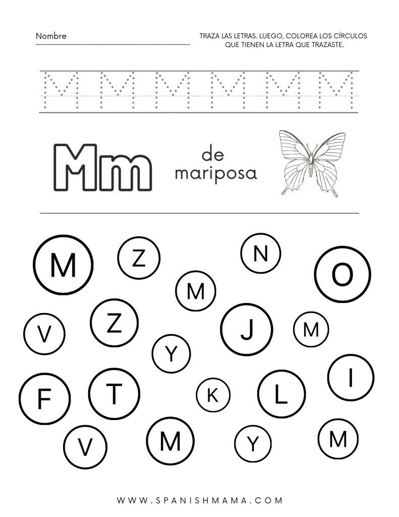 Spanish ABC worksheet