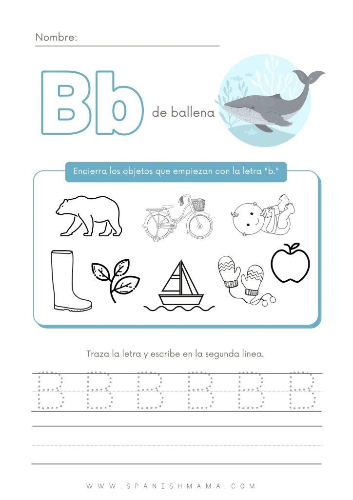 Spanish Alphabet Introduction Worksheet