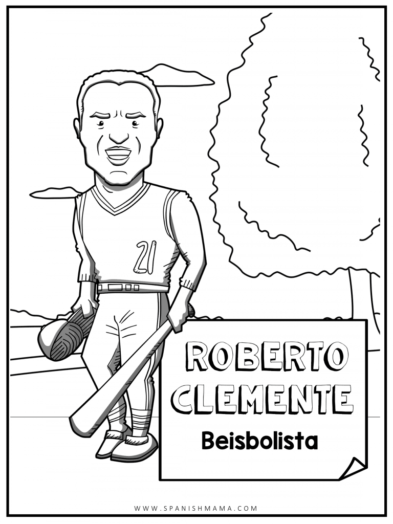 Roberto Clemente coloring page
