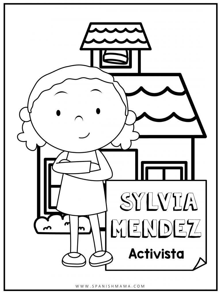 Sylvia Mendez Coloring Page