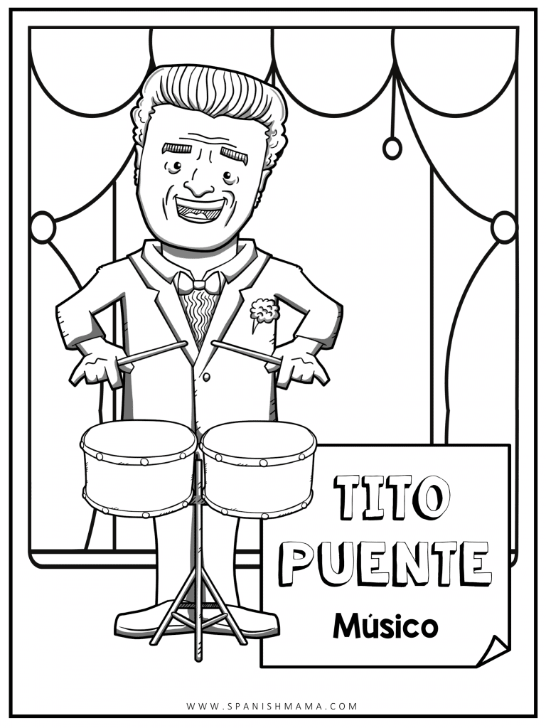 Tito Puente Coloring Pages